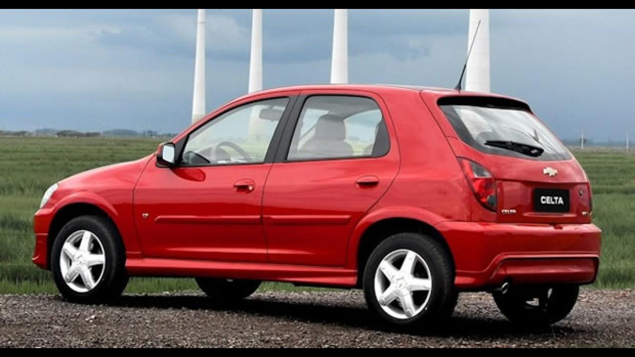 """Chevrolet lança o """"Novo Celta 2012"""" em novas versões LS e LT - Veja fotos e preços"""
