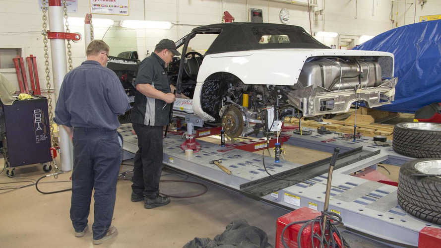 GM begins restoring the 1 Millionth Corvette that was damaged by a sinkhole