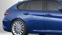 Alfa Romeo Giulia Sportwagon rendered in standard specification