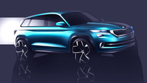 Skoda VisionS concept teased ahead Geneva