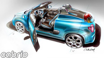 Fiat Uno Cabrio concept interior sketches, 1600, 26.10.2010
