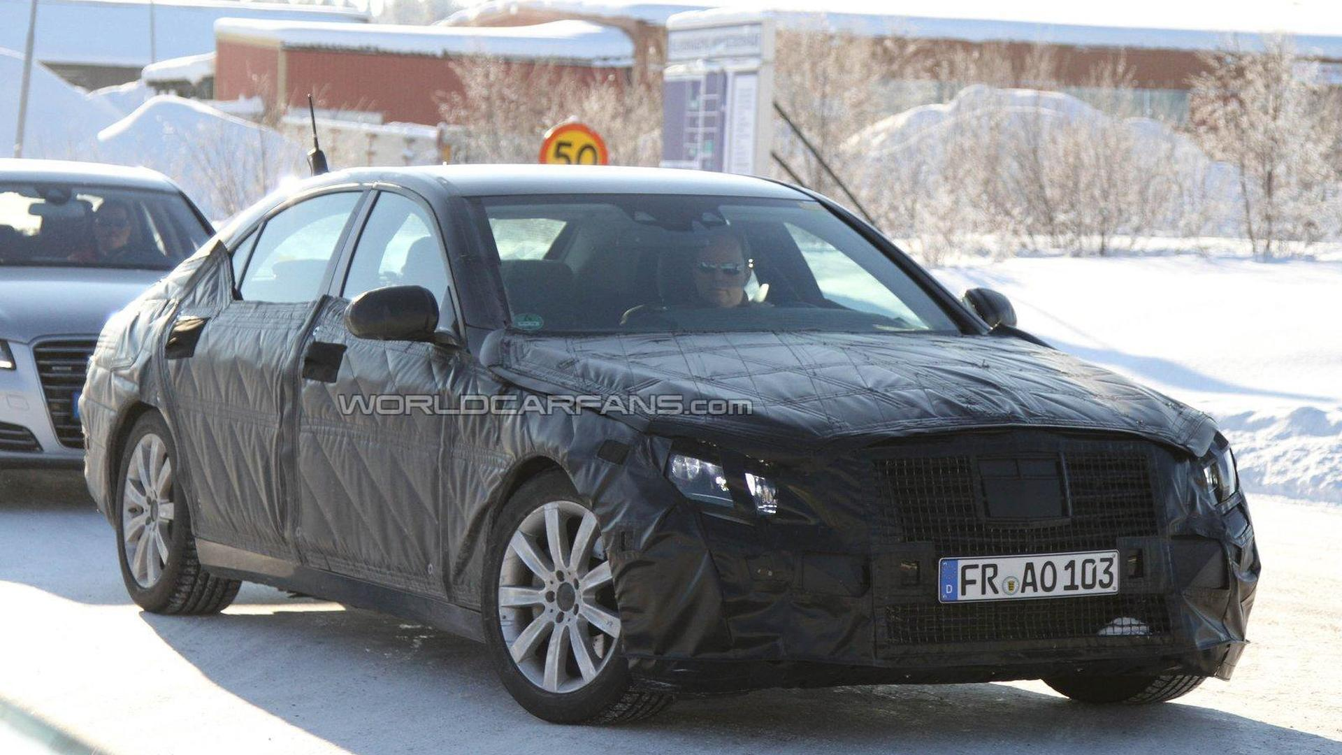 2013 Mercedes Benz S-Class spied next to current model