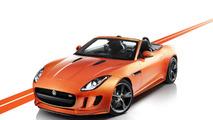 Jaguar F-Type with Firesand exterior and Black Design Packs 29.11.2012