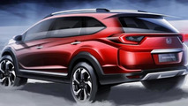 Honda BR-V official design sketch