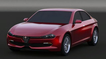 2016 Alfa Romeo Giulia rendered with retro tweaks