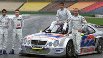 Jean Alesi Tested AMG Mercedes CLK-DTM at Hockenheim