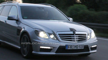 Mercedes Benz E 63 AMG Wagon Spied at Night