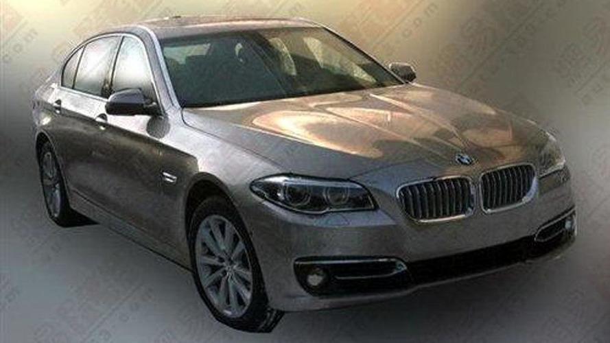 2014 BMW 5-Series facelift spied undisguised