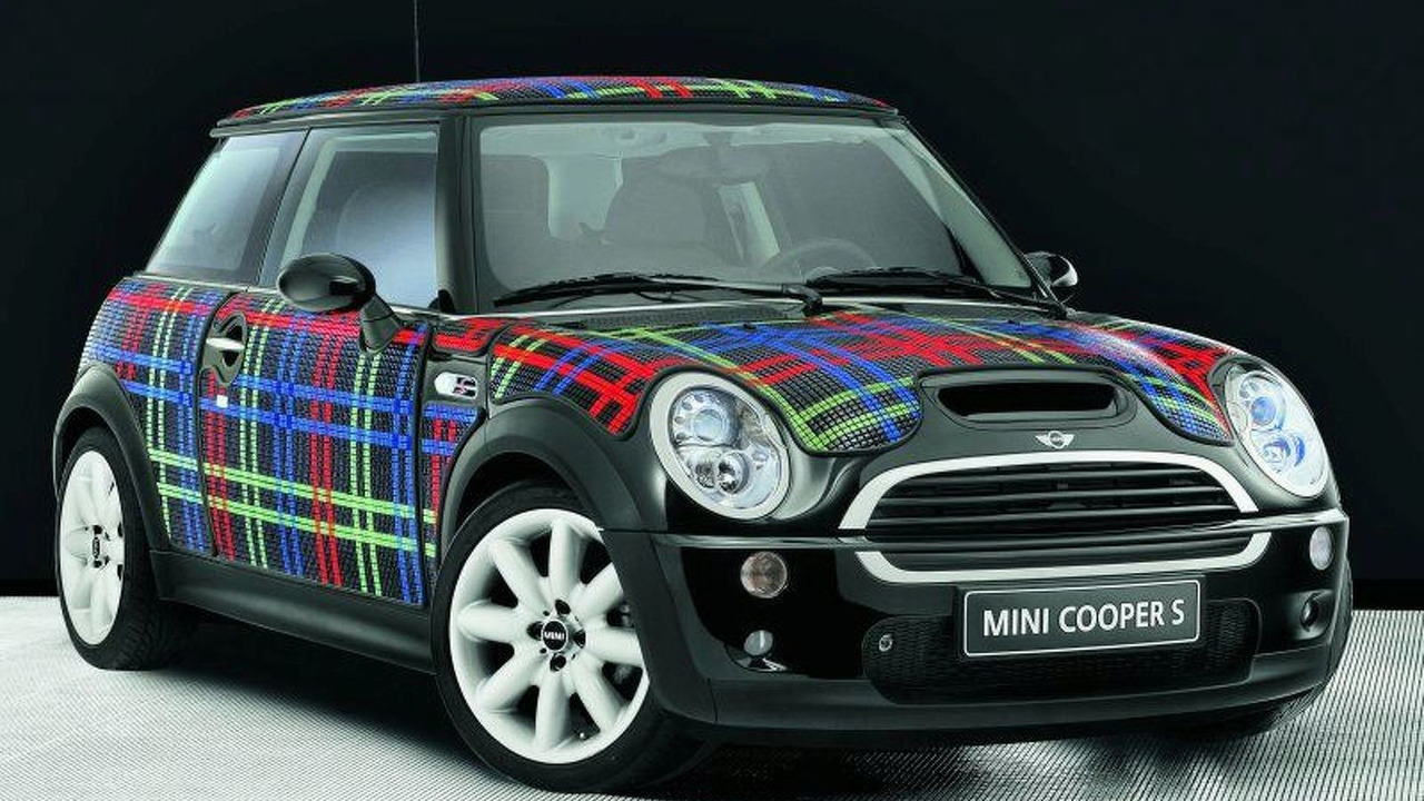 MINI wears Bisazza - Tartan pattern