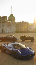 Jaguar C-X75 on Horse Guards Parade with Royal Heritage Vehicles 09.7.2013