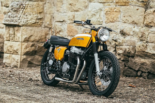 Custom 1971 Honda CB750 Motorcycle is a Golden Beauty