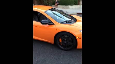 Kid's skateboard smashes McLaren 12C windshield
