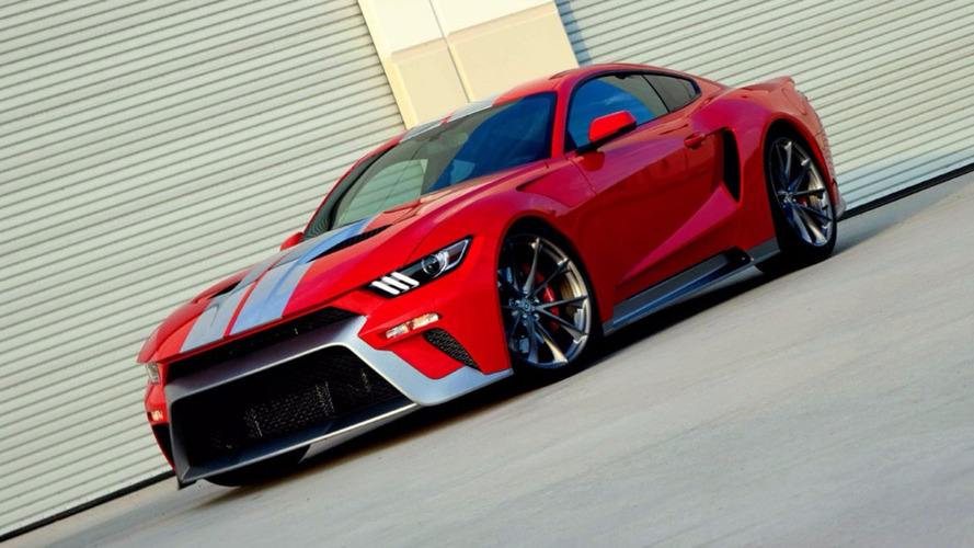 This custom Mustang pays tribute to the new Ford GT