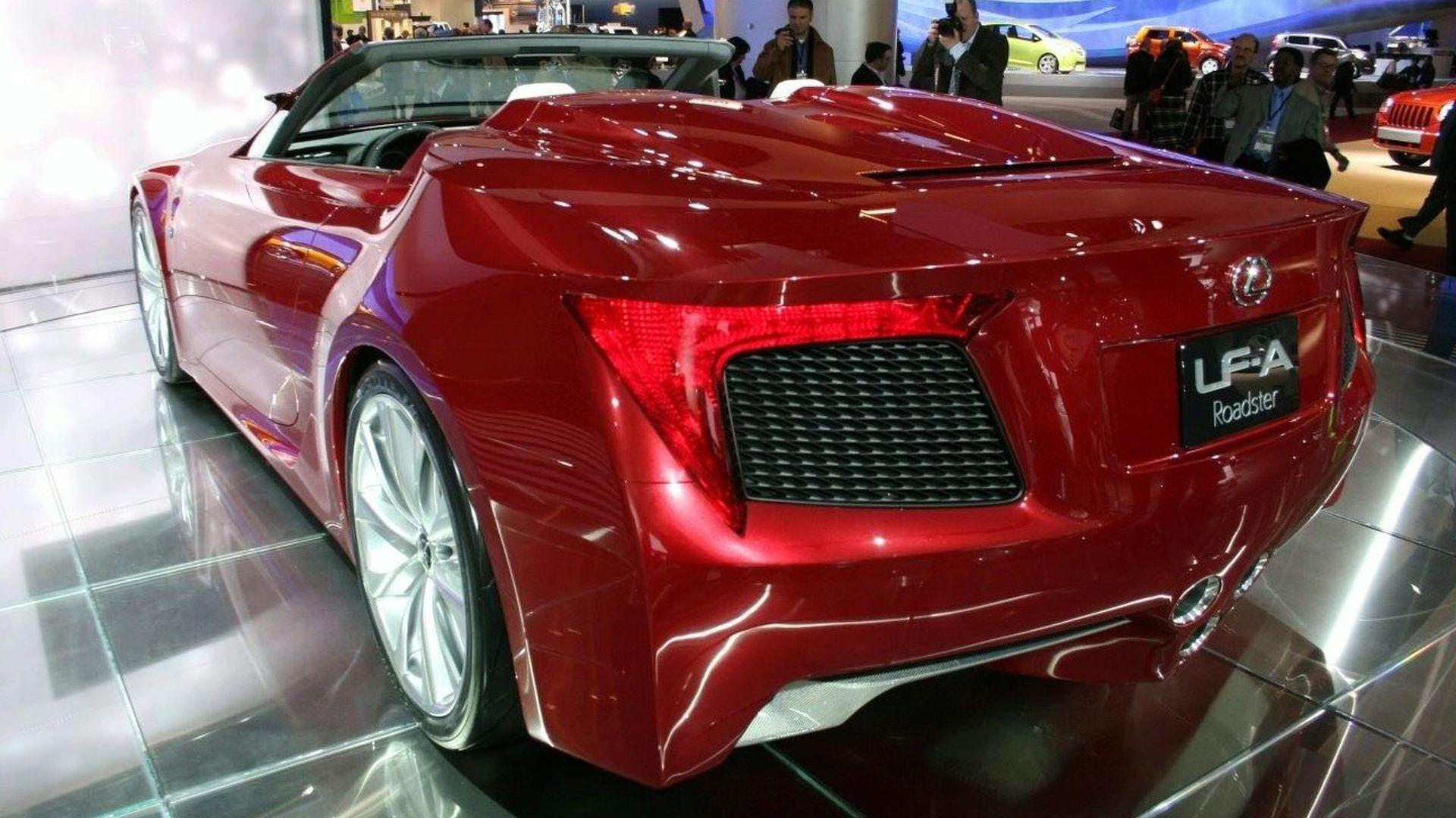 Detroit Auto Show: Lexus LF-A Roadster Revealed