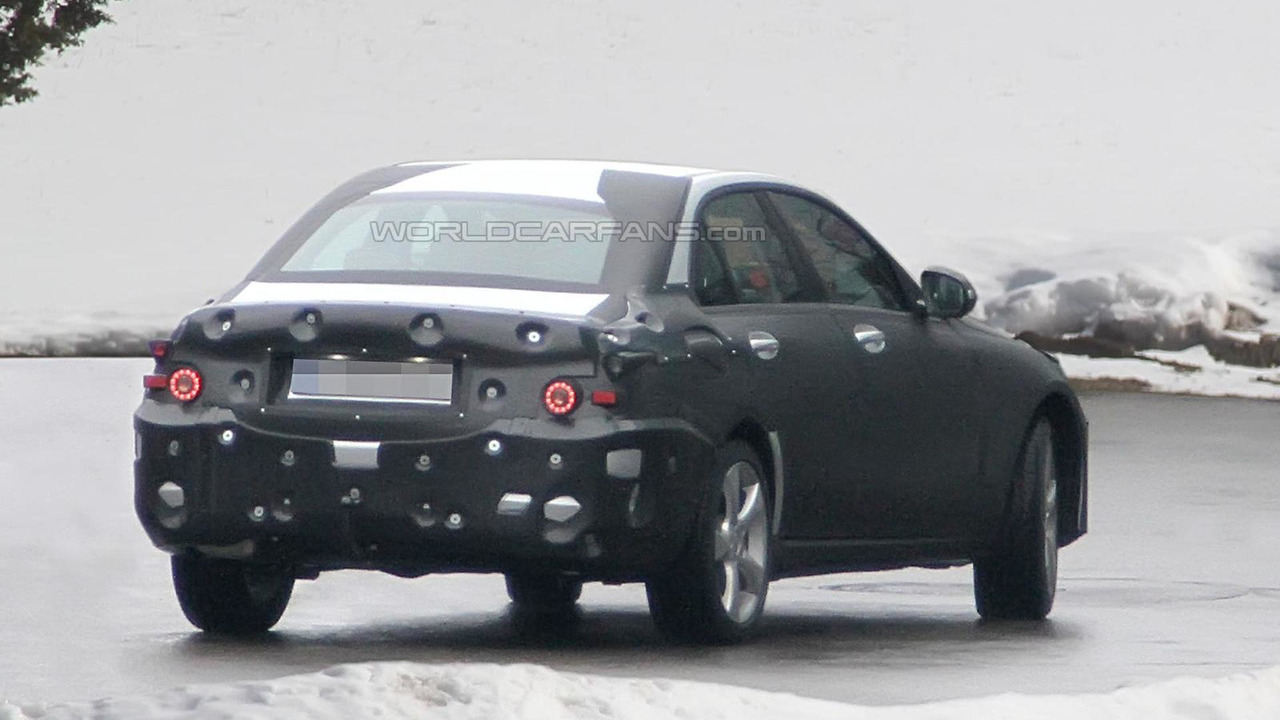 2014 Mercedes C-Class full body prototype spy photo