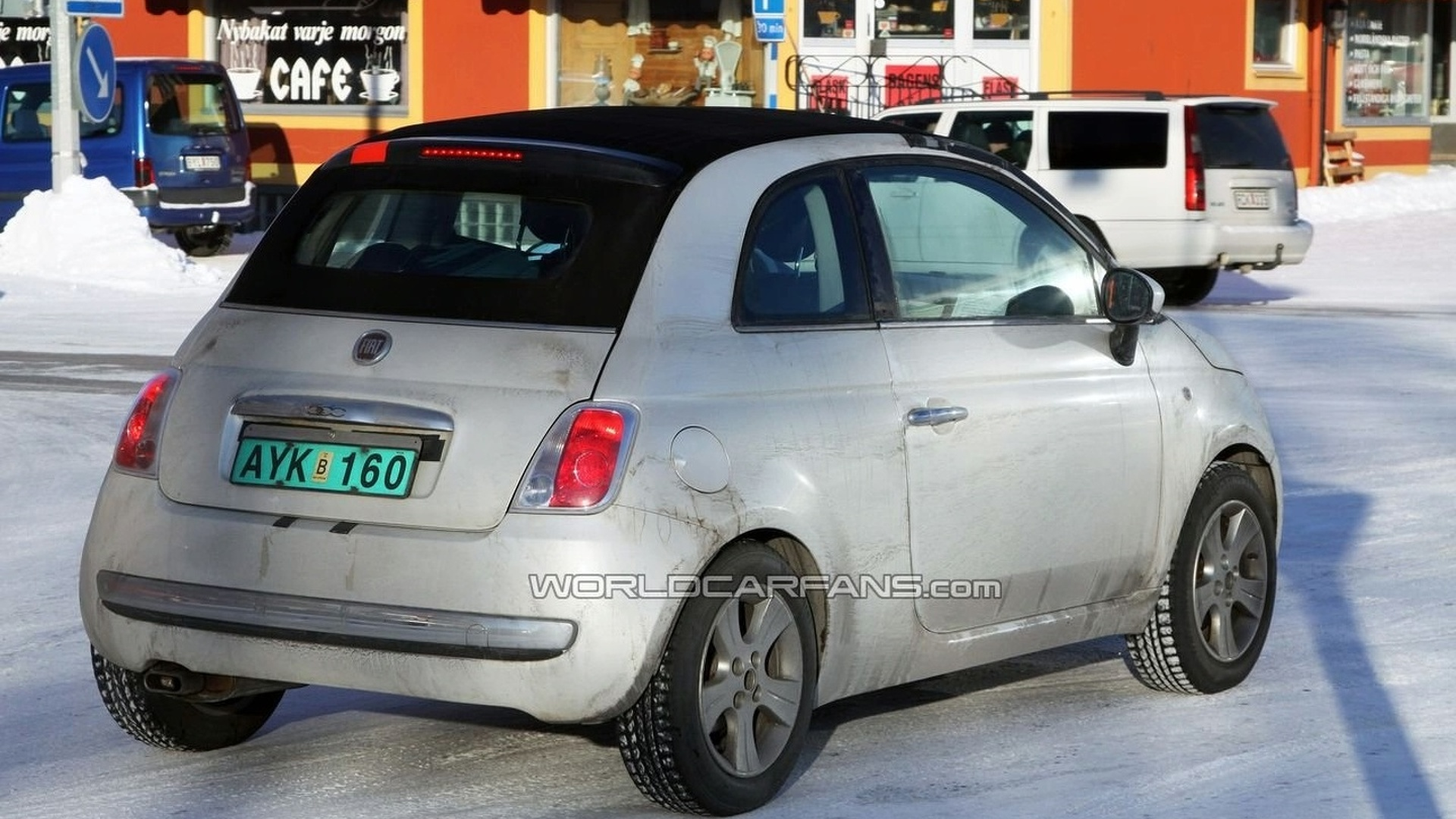 Fiat 500 Convertible Completely Uncovered Spy Photos