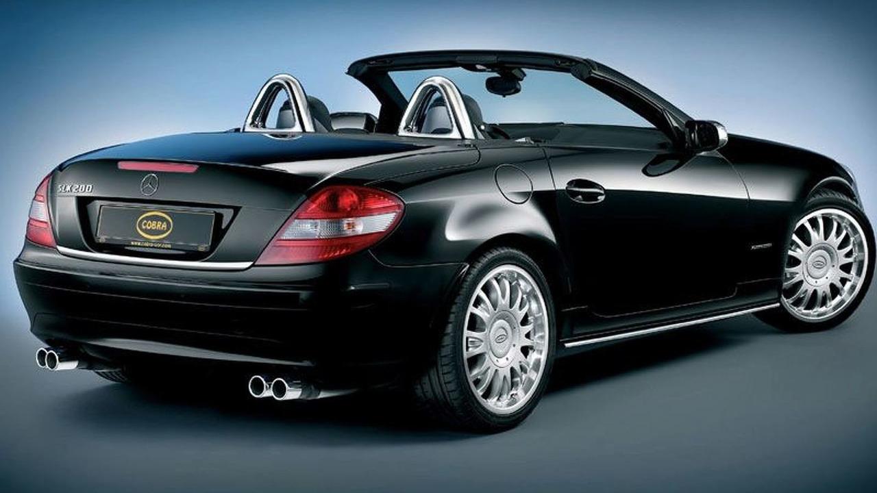 Cobra Chrome Covers for Mercedes SLK Roll Bars