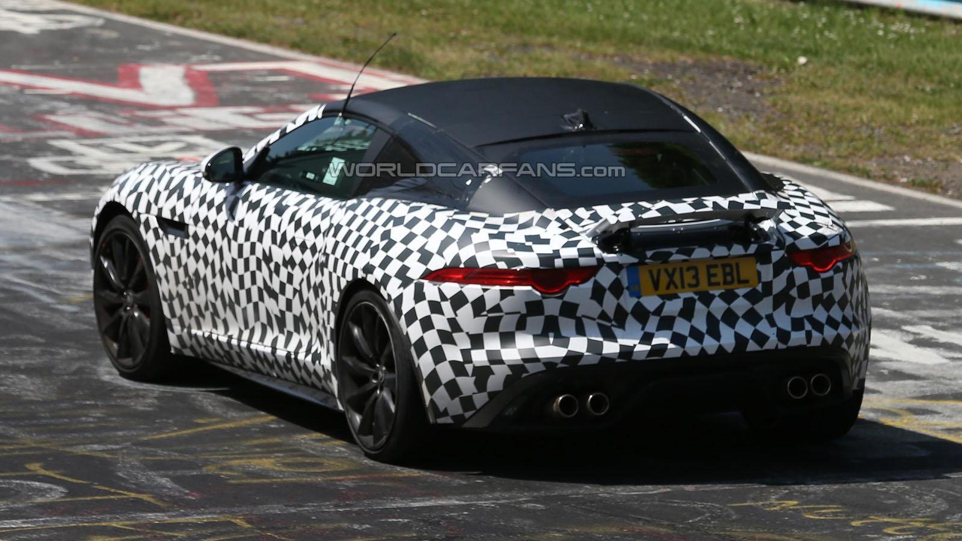 2014 Jaguar F-Type Coupe spied [video]
