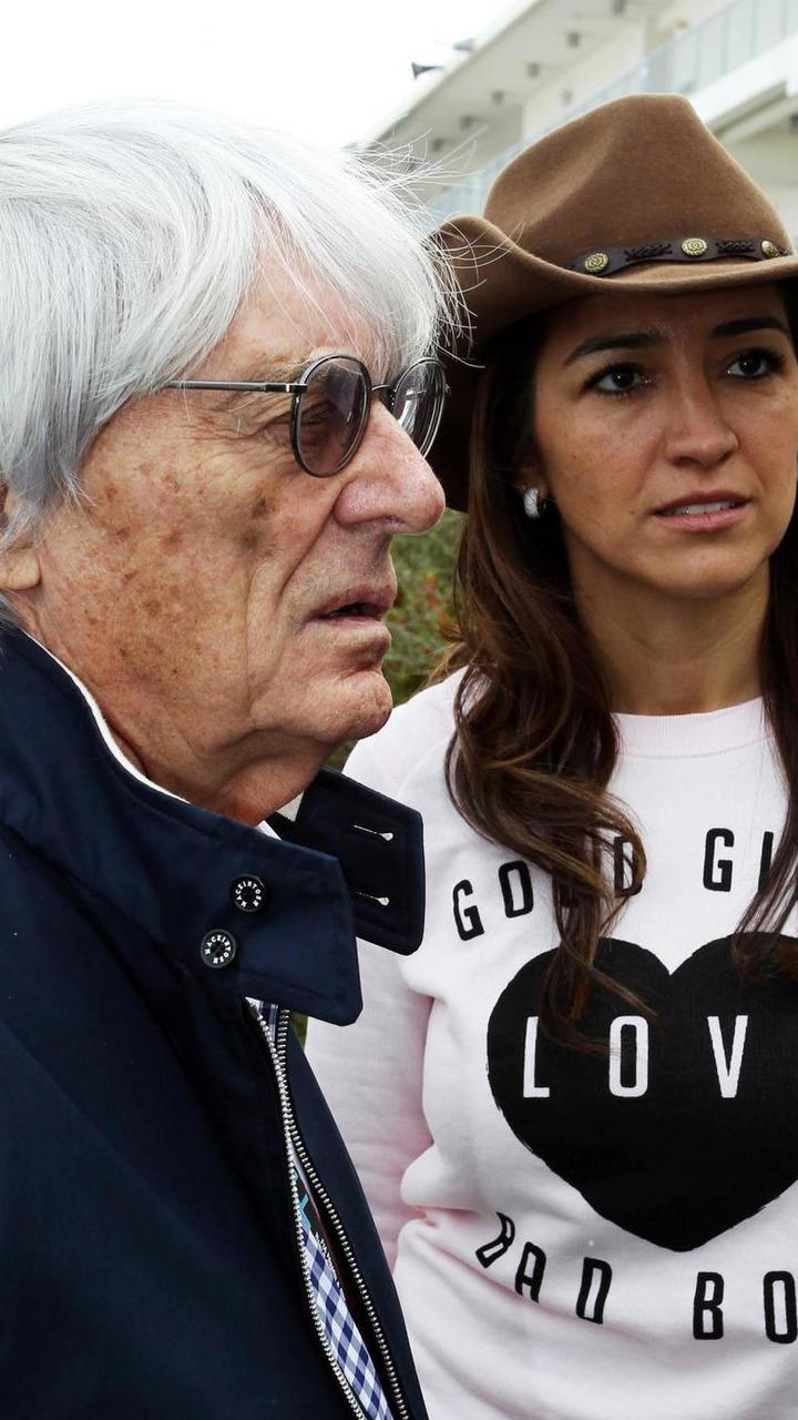 Bernie Ecclestone with his wife Fabiana Flosi 14.11.2013 United States Grand Prix