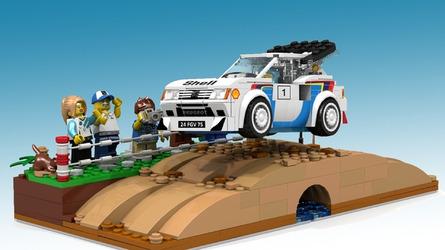 Une Peugeot 205 T16 en Lego ?