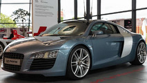 2003 Audi Le Mans quattro concept displayed together with 2015 R8 V10 Plus