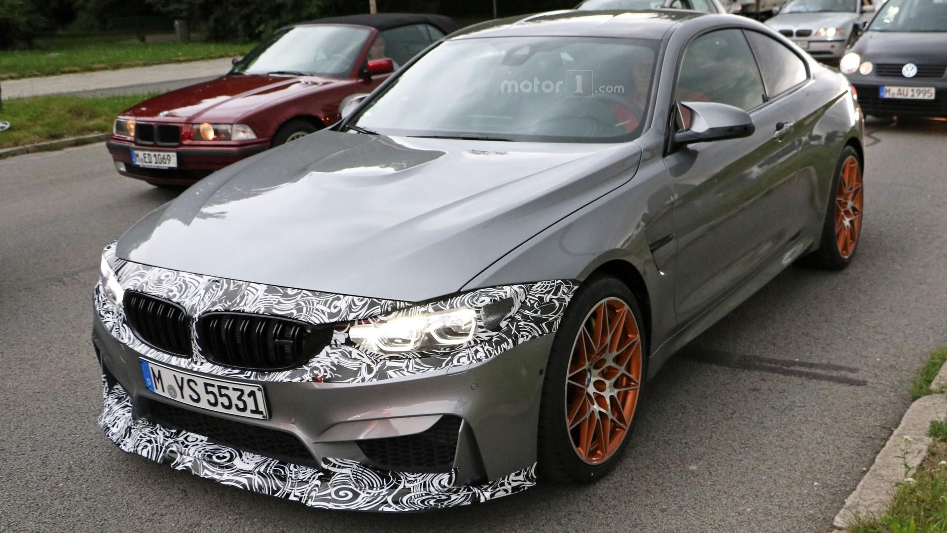 BMW M4 facelift spied riding on GTS' wheels