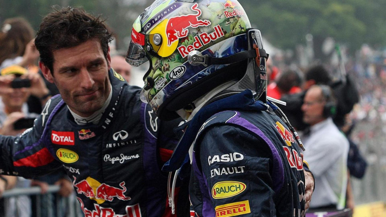 Sebastian Vettel with Mark Webber 24.11.2013 Brazilian Grand Prix