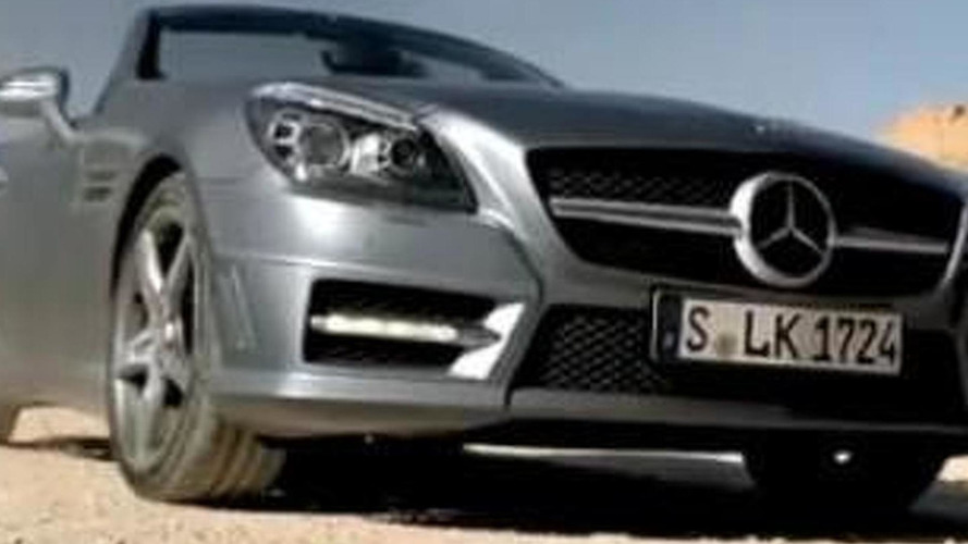 2012 Mercedes SLK unveiled in French commercial