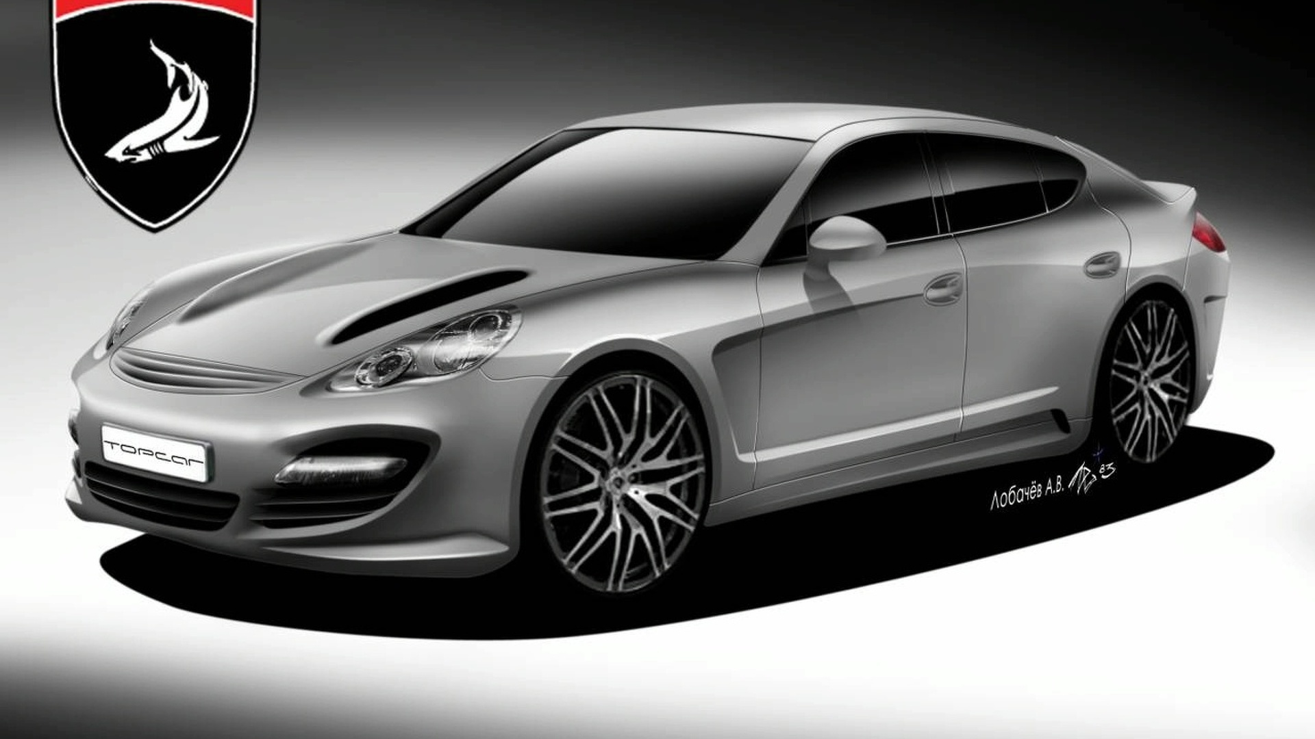 More 9FF Porsche Panamera Sketches Surface