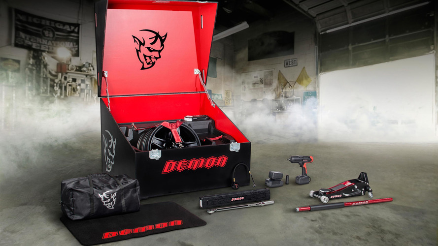 Dodge Challenger Demon's tool crate makes it easy to wrench anywhere