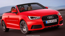 Audi A1 S-Line Convertible rendering