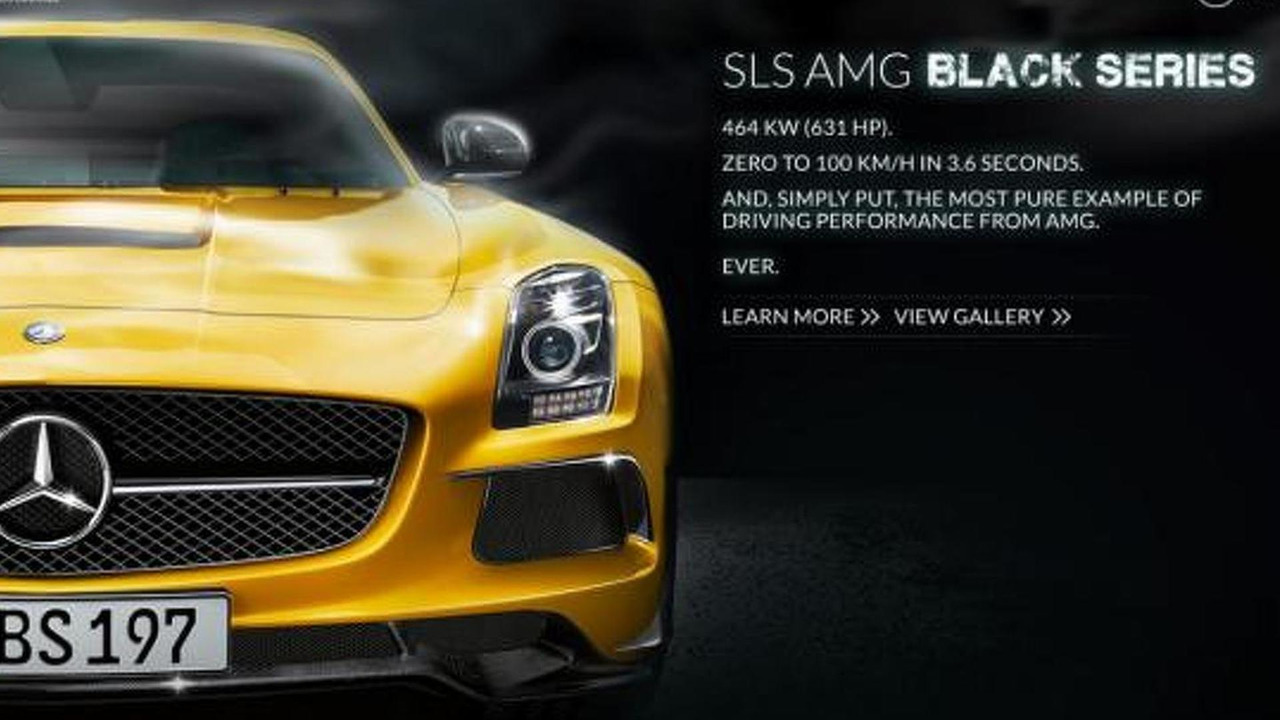 Mercedes-Benz SLS AMG Black Series micro-site