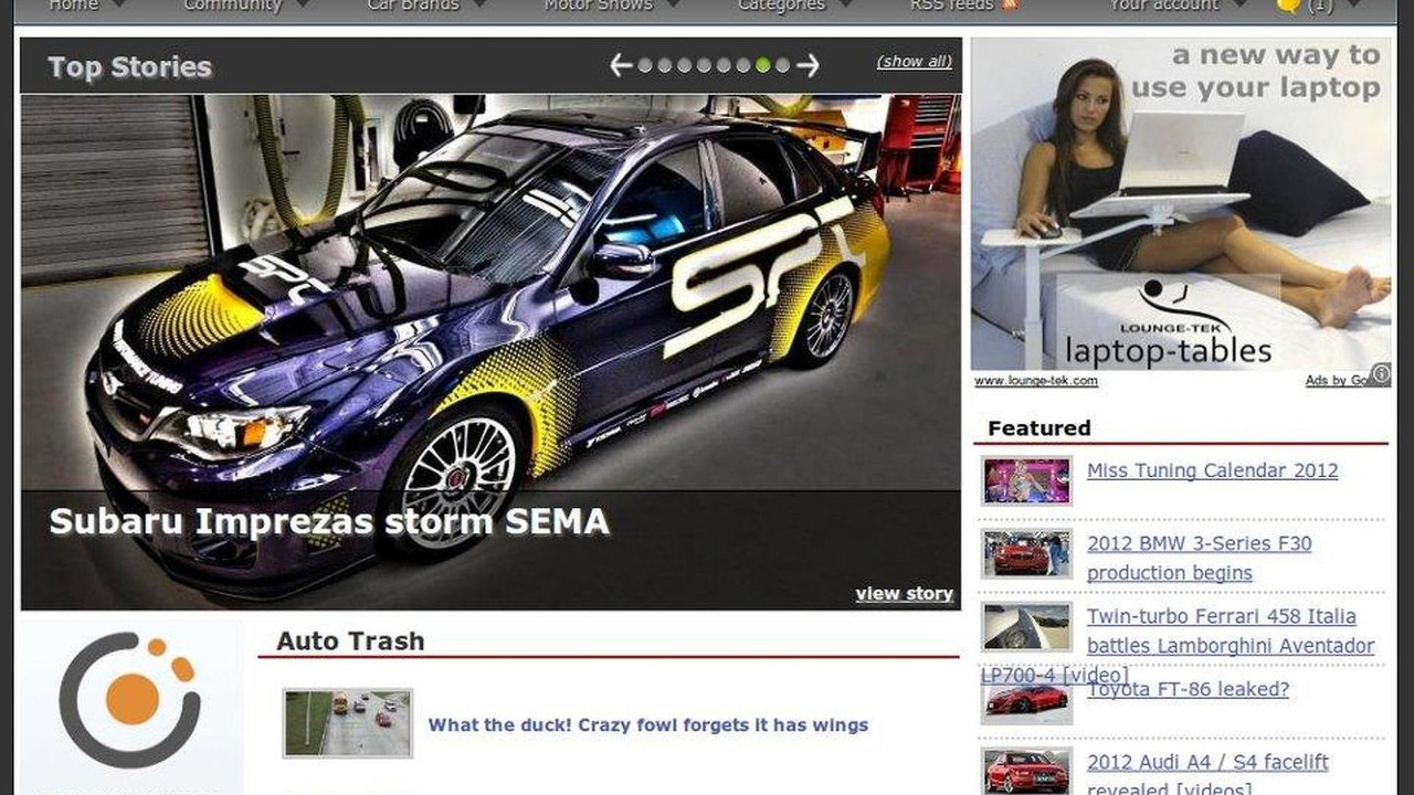 WCF main page redesign screenshot 02.11.2011