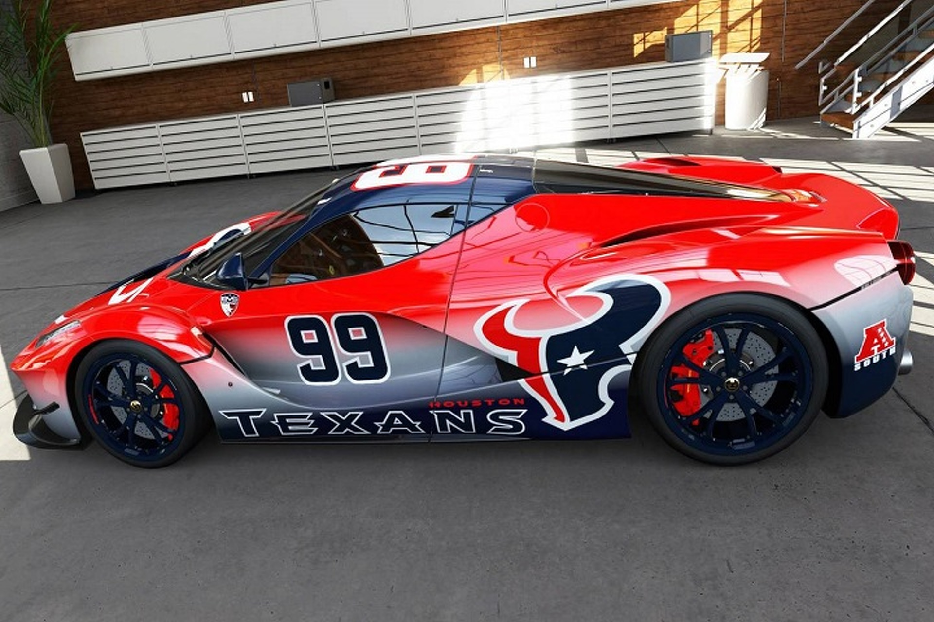 Ferrari LaFerrari Gets a Houston Texans J.J. Watt Makeover