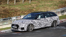 Audi RS4 Avant with roll cage seen at the Nürburgring