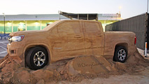 2015 Chevrolet Colorado made out of sand