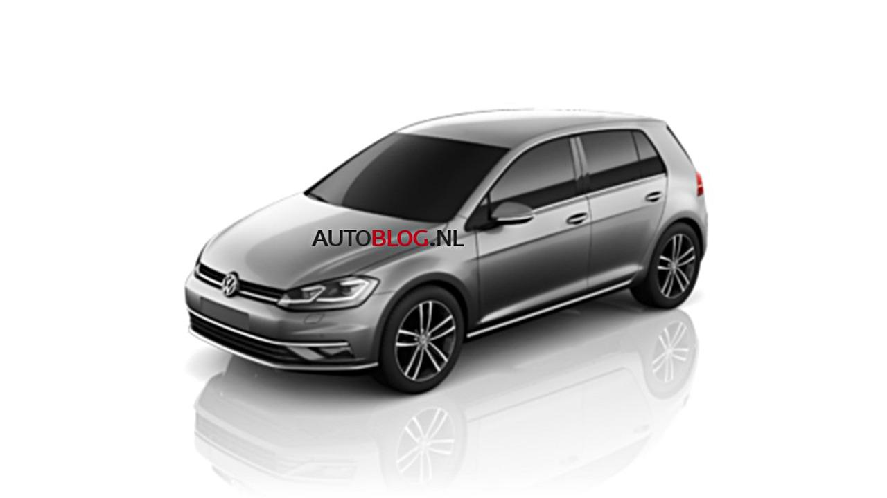 VW Golf 7 facelift leaked photos