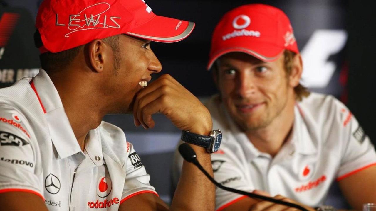 Lewis Hamilton (GBR), McLaren Mercedes, Jenson Button (GBR), British Grand Prix, 08.07.2010 Silverstone, England