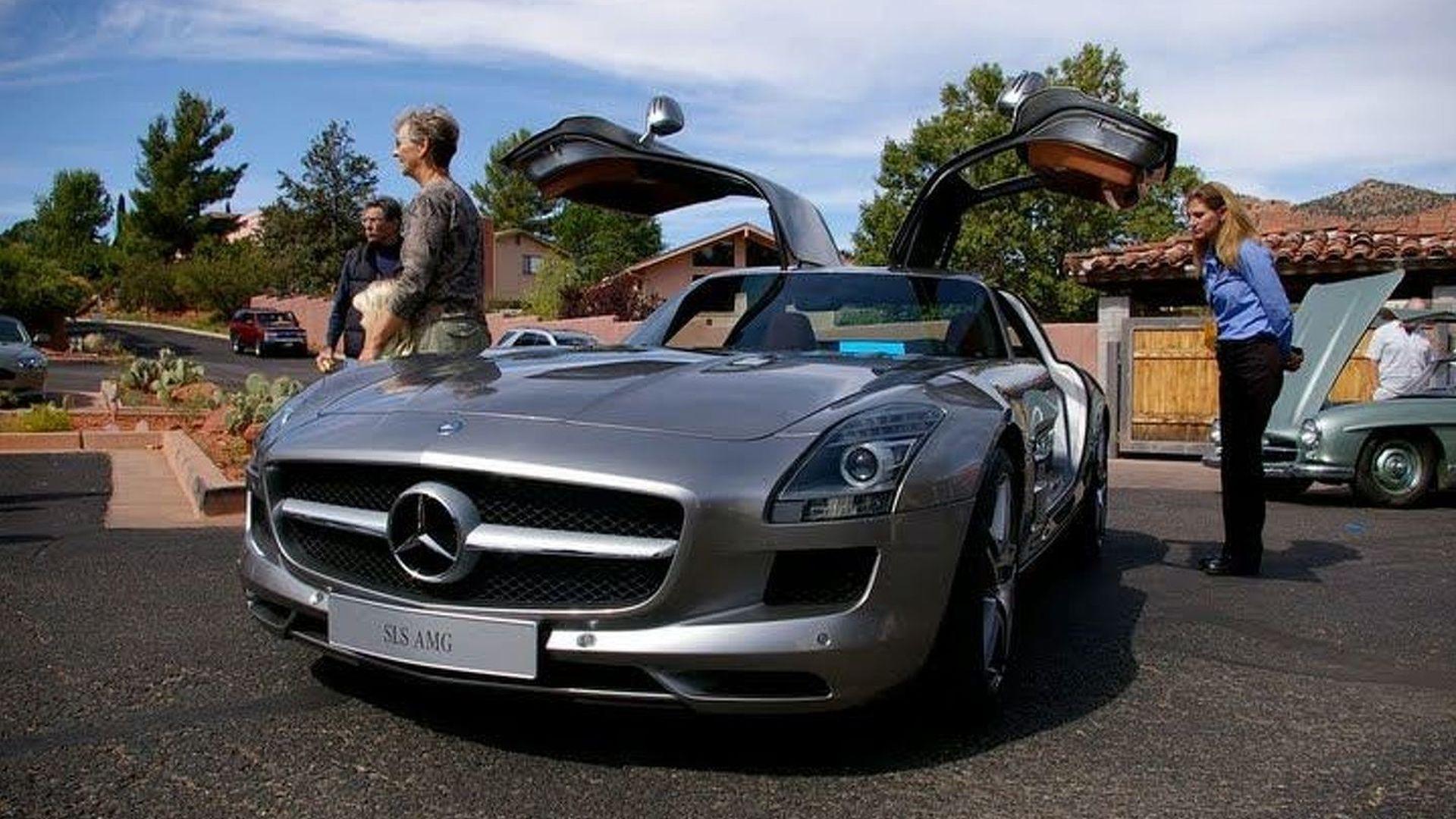 Mercedes SLS AMG Meets its Ancestors