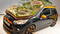 Citroen puts a 1:43 scale rally scene on top of a DS3