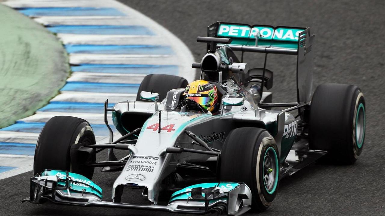 Lewis Hamilton 31.01.2014 Formula One Testing Jerez Spain