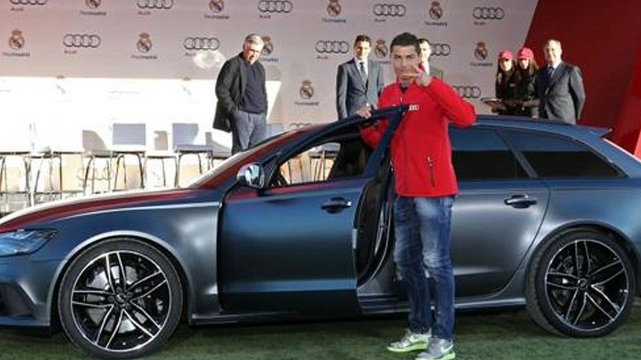 Christiano Ronaldo and Audi RS6 Avant