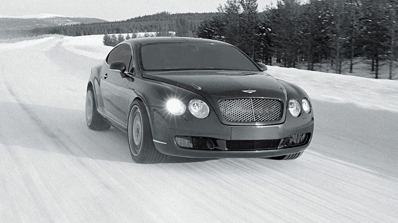 Bentley Continental GT winter testing in Finland