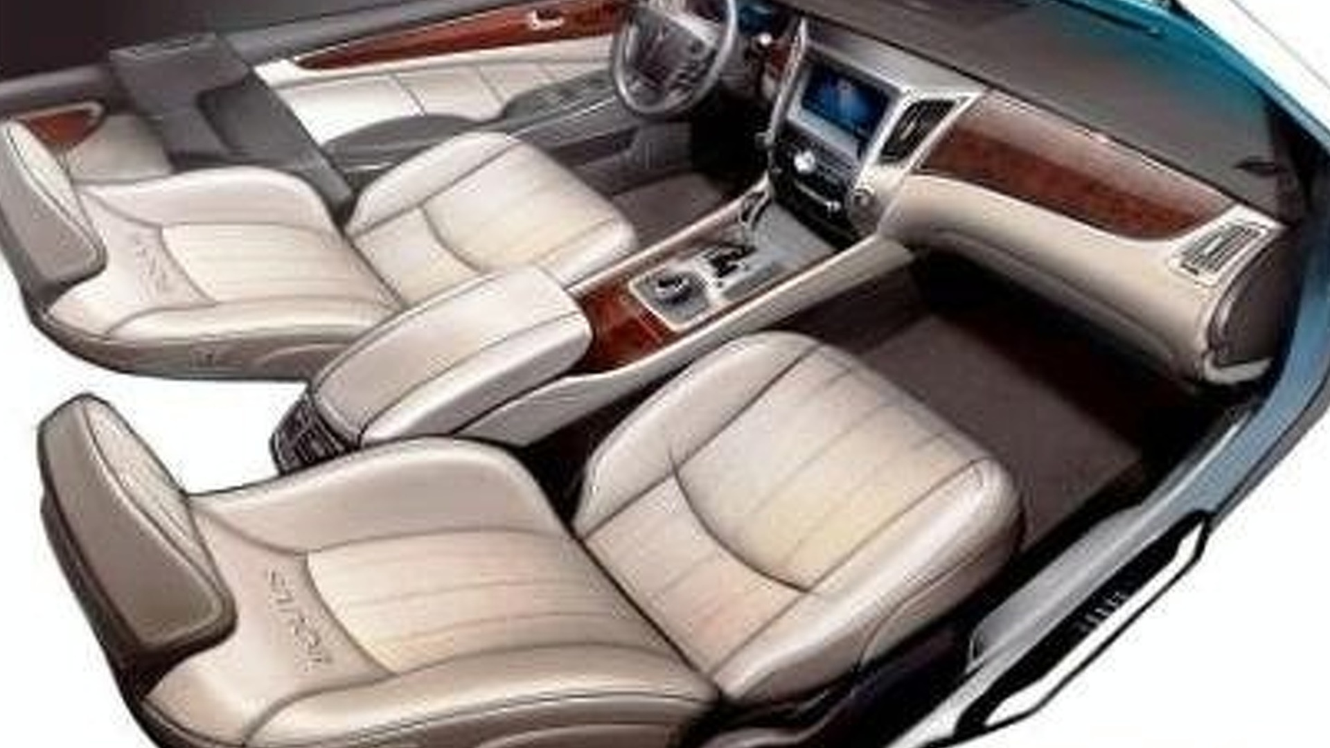 First Hyundai Equus Interior Sketch Surfaces