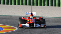 Ferrari's new car impresses on first test day