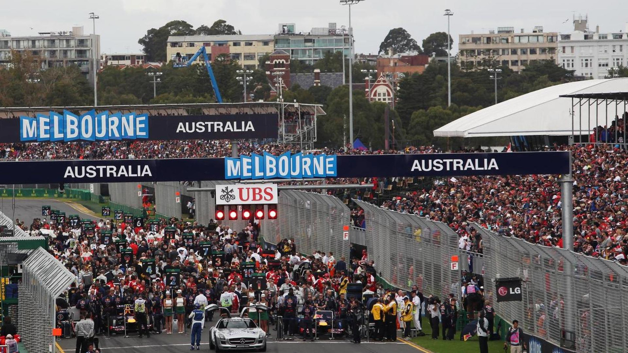 The grid before the start of the race, 17.03.2013, Australian Grand Prix / XPB