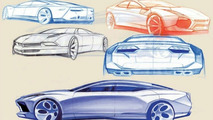 Lamborghini Estoque Concept design sketches