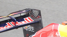 The hole in the rear wing of Sebastian Vettel, Red Bull Racing when the DRS wing is enabled