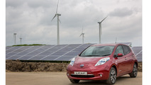 Nissan offsets 3,000 tons of CO2 with 19,000 solar panels, 10 wind turbines