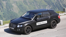 2016 Bentley crossover spied inside & out